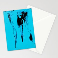 World Map : Gall Peters Blue Stationery Cards