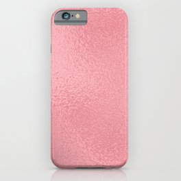 Simply Metallic in Pink Rose Gold iPhone Case