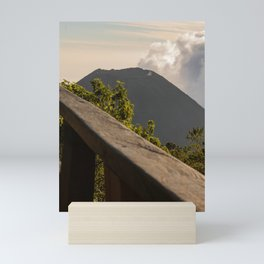 view of a volcano in el salvador Mini Art Print