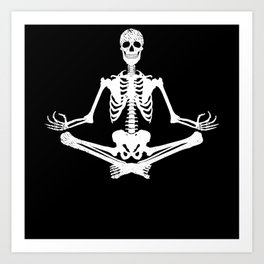 Yoga Skeleton Ohm Art Print