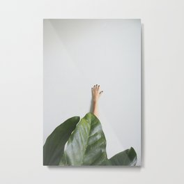 Tropical Leaves Minimal Metal Print