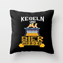 Lustiger Kegeln und Bier Spruch Vatertag Throw Pillow