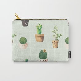 Cacti Plant Box Pattern Carry-All Pouch