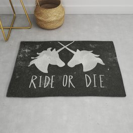Ride or Die Unicorn Magic Rug