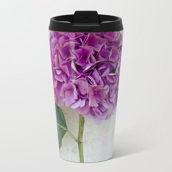 One Hydrangea II Metal Travel Mug