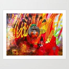 Save orangutans Art Print