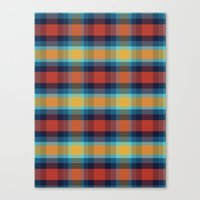 plaid Canvas Prints featuring Plaid by Sierra Neale