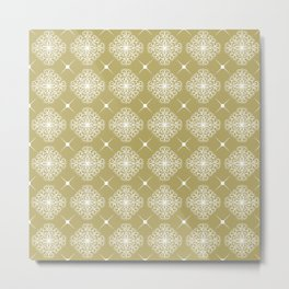 abstract floral pattern Metal Print