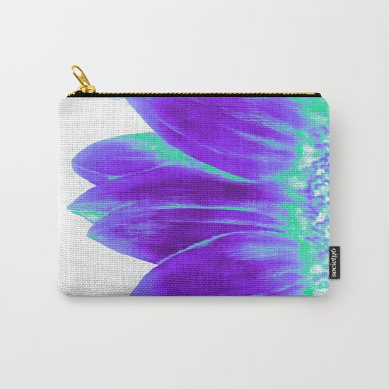 Sunflower Bright Violet & Mint Green Carry-All Pouch