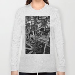 Shibuya in BW Long Sleeve T-shirt