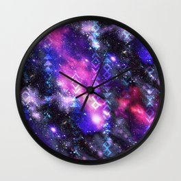 Tribal Galaxy Wall Clock