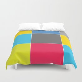 Colors and Squares Duvet Cover