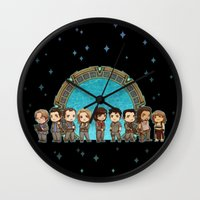 stargate Wall Clocks featuring Cast of Stargate Atlantis by Ravenno