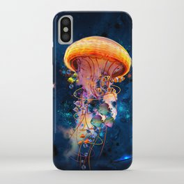 Electric Jellyish World iPhone Case