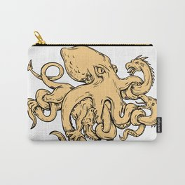Giant Octopus Fighting Hydra Drawing Carry-All Pouch