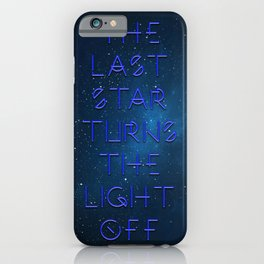 The last Star iPhone Case