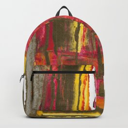 A Man Alone During Sunset Abstract Fine Art Backpack