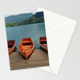 Lake Bled Boats Stationery Cards