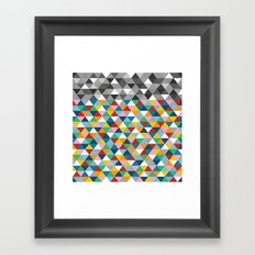 Triangles with Topper Framed Art Print