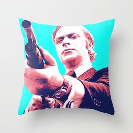 Fathers Day - Michael Caine screen print Throw Pillow