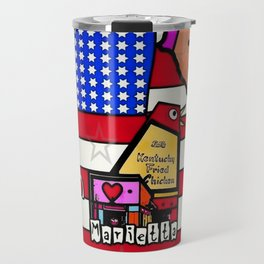 Marietta Popart by Nico Bielow Travel Mug