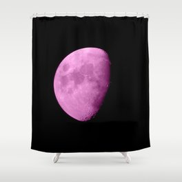 4K Dark Side of the Moon Fuchsia Shower Curtain