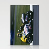 honda Stationery Cards featuring VALENTINO ROSSI RIDING A HONDA by Don Hooper