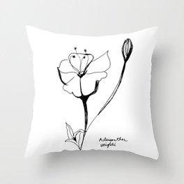 Acleisanthes wrightii Throw Pillow