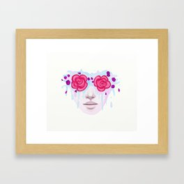 Rose Colored Framed Art Print