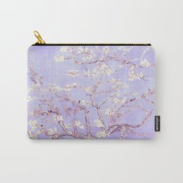 Vincent Van Gogh Almond Blossoms  Lavender Carry-All Pouch