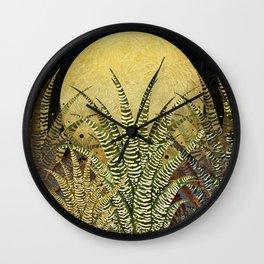 """Golden aloe Zebra midnight sun"" Wall Clock"