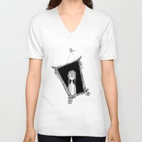 mirror V-neck T-shirts featuring Mirror by Andrew Mark Pickin