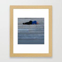 Naps at the ICA Framed Art Print