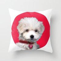 valentine Throw Pillows featuring Valentine by Herzensdinge