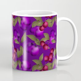 Fruit market . Plum and cherry . Coffee Mug