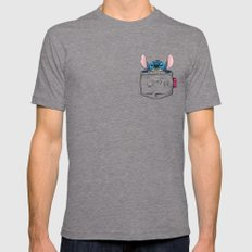 imPortable Stitch... LARGE Tri-Grey Mens Fitted Tee