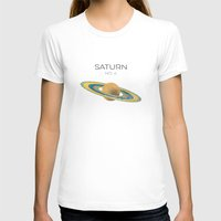saturn T-shirts featuring Saturn by Metron