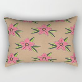 Old school tattoo flower pattern Rectangular Pillow