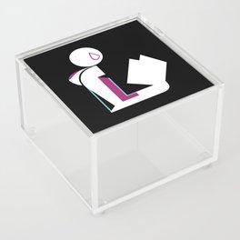 Spider Lady Reads Acrylic Box