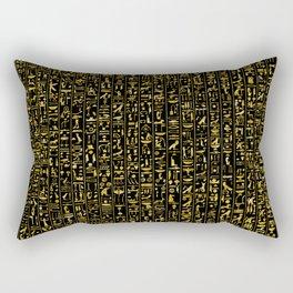 Hieroglyphics GOLD Rectangular Pillow