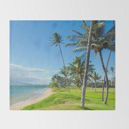 Waipuilani Beach Kihei Maui Hawaii Throw Blanket