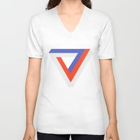 gaming V-neck T-shirts featuring Polygon Gaming by Thomas Official