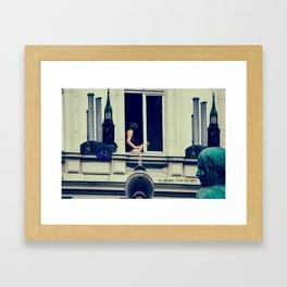 Berlin is calling the light Framed Art Print