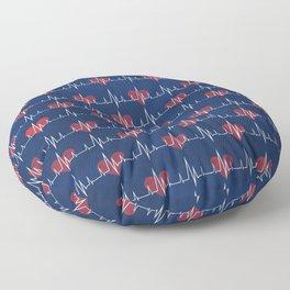 Heartbeat Floor Pillow