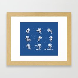 Little Astronauts Framed Art Print