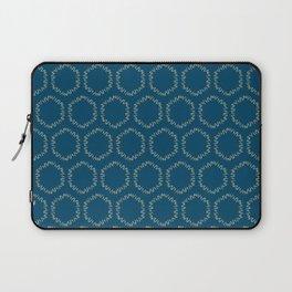 Eucalyptus Patterns with Blue Background Realistic Botanic Patterns Organic & Geometric Patterns Laptop Sleeve