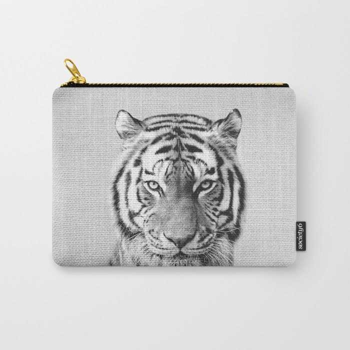 Tiger - Black & White Carry-All Pouch