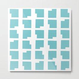 NYC Pattern: Gramercy Metal Print