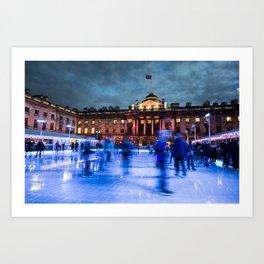 Ice Skating At Somerset House, London Art Print