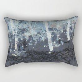 Winter Tree Night Fine Art Rectangular Pillow